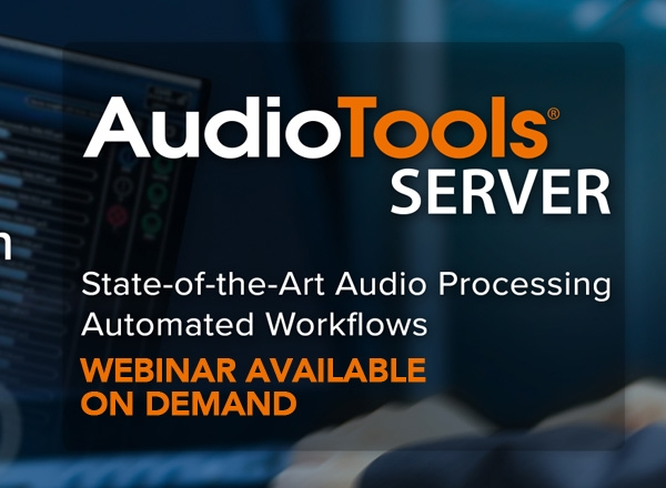 On Demand AudioTools Server Webinar